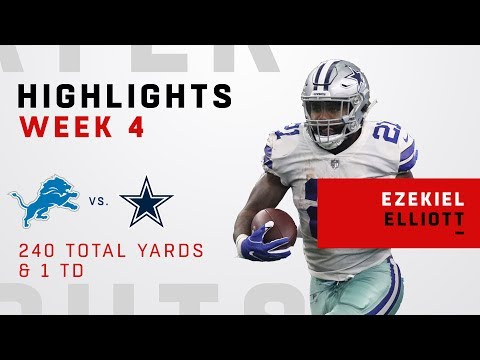 Ezekiel Elliott's Insane Game w/ 240 Total Yards!