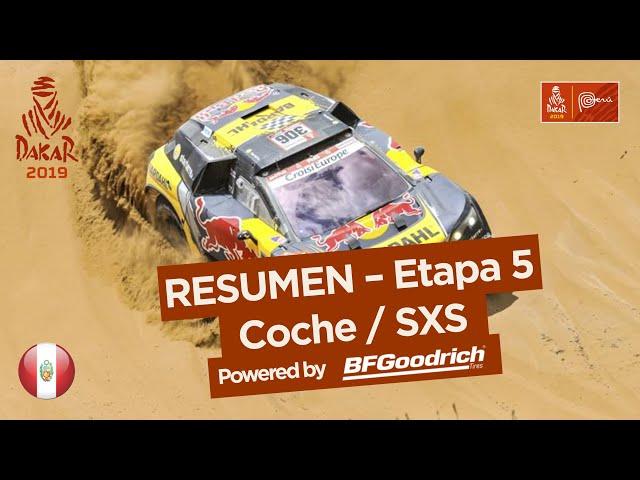 Resumen - Coche/SxS - Etapa 5 (Tacna / Arequipa) - Dakar 2019