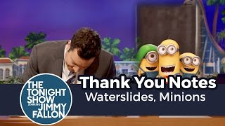 Thank You Notes (Orlando Edition): Waterslides, Minions thumbnail