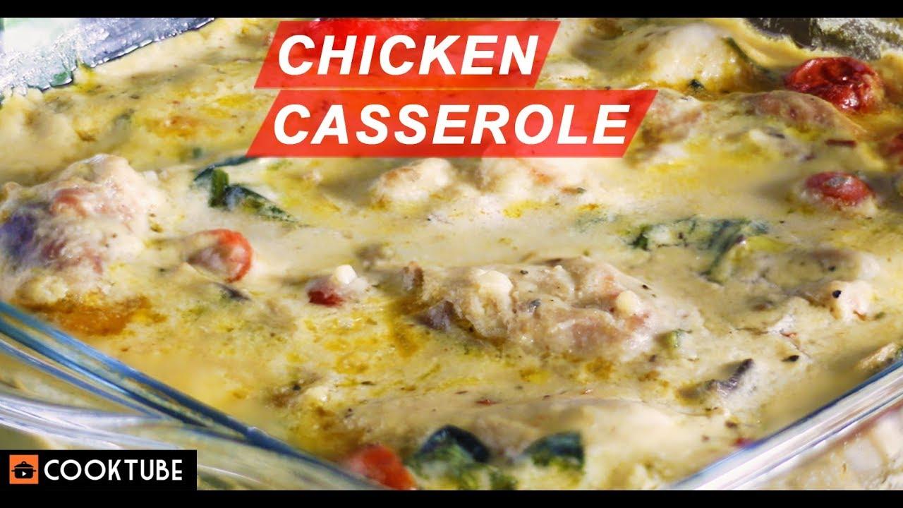 Easy Chicken Casserole Recipe How To Make Chicken Casserole Chicken In White Sauce