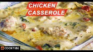 Easy Chicken Casserole Recipe | How To Make Chicken Casserole | Chicken In White Sauce