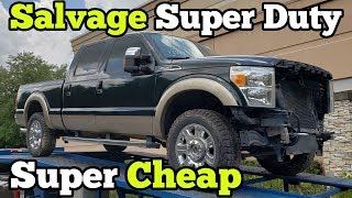 I Bought a TOTALED Ford F250 at Salvage Auction and Rebuilt Most of it in a Few Hours!