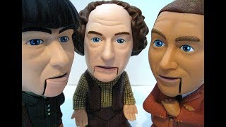 The Three Stooges Talking Figurines 2003 C3 Ent Battery Operated Toys