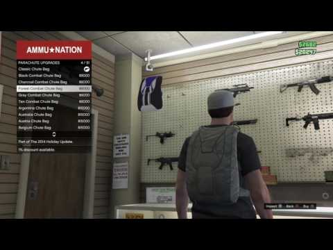 how to make a parachute as a backpack in gta 5 on ps4 and xbox 1