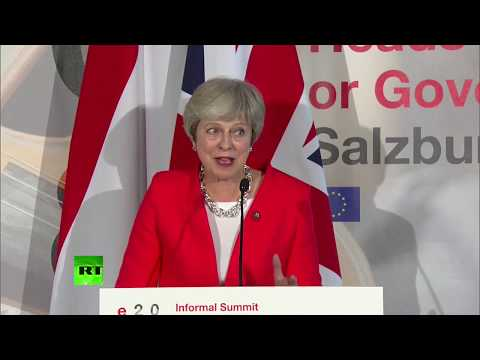 LIVE: Theresa May holds presser after EU summit meeting