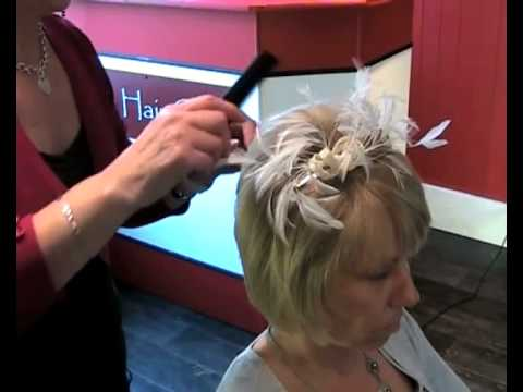 Wedding Hair Style - How To Add Volume to Short Hair and Fix a Fascinator 456b0049c8d