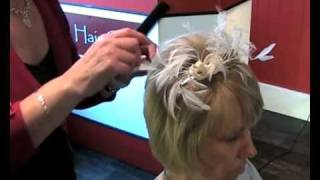 Wedding Hair Style - How To Add Volume to Short Hair and Fix a Fascinator