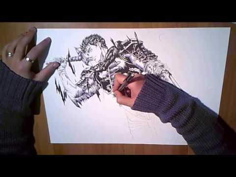 Speed drawing Guts - Berserk l - SPECIAL - 300 Subscribers.