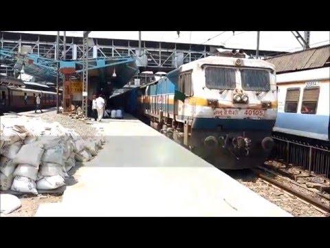 INDIAN RAILWAYS: 16345 LTT- TVC NETRAVATI EXPRESS ACCELERATES THANE IN A PURE FORM!!!!!!!