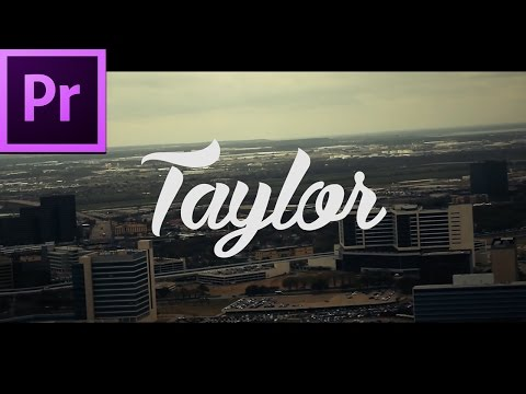 Best Tutorials For Creating An Intro In Premiere Pro