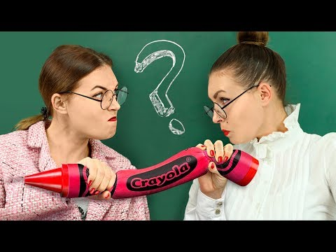 10 Weird Ways To Sneak Giant Stress Relievers Into Class / Anti Stress School Supplies Challenge