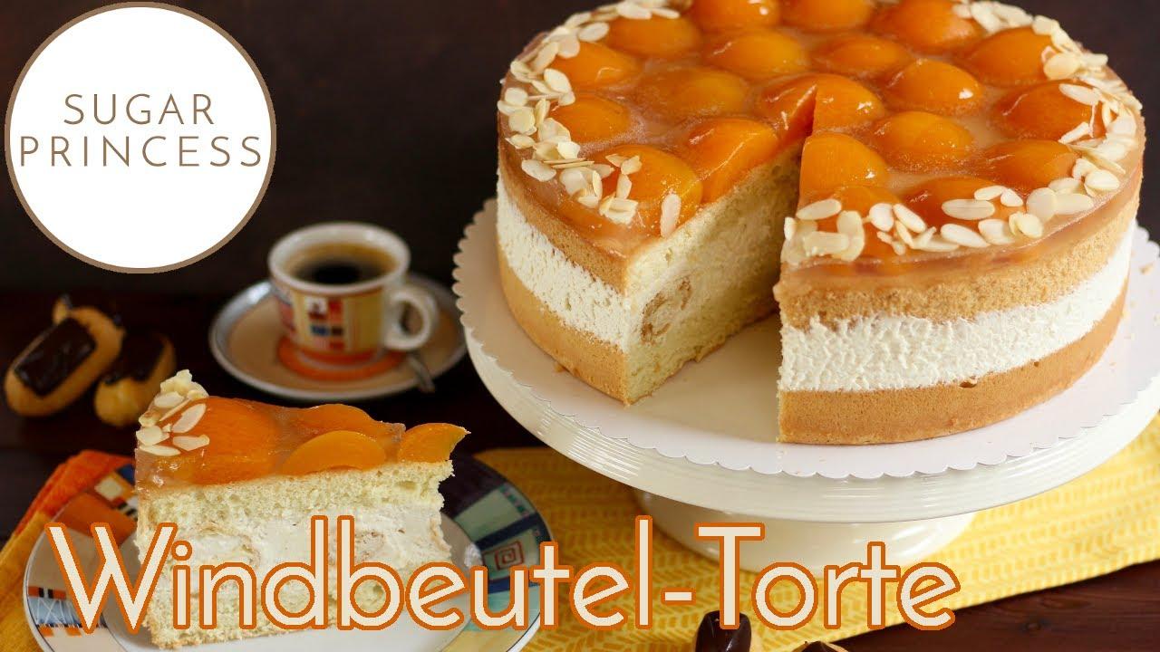 Super schnelle, einfache Windbeutel-Torte mit Aprikosen / Ostertorte  | Rezept von Sugarprincess