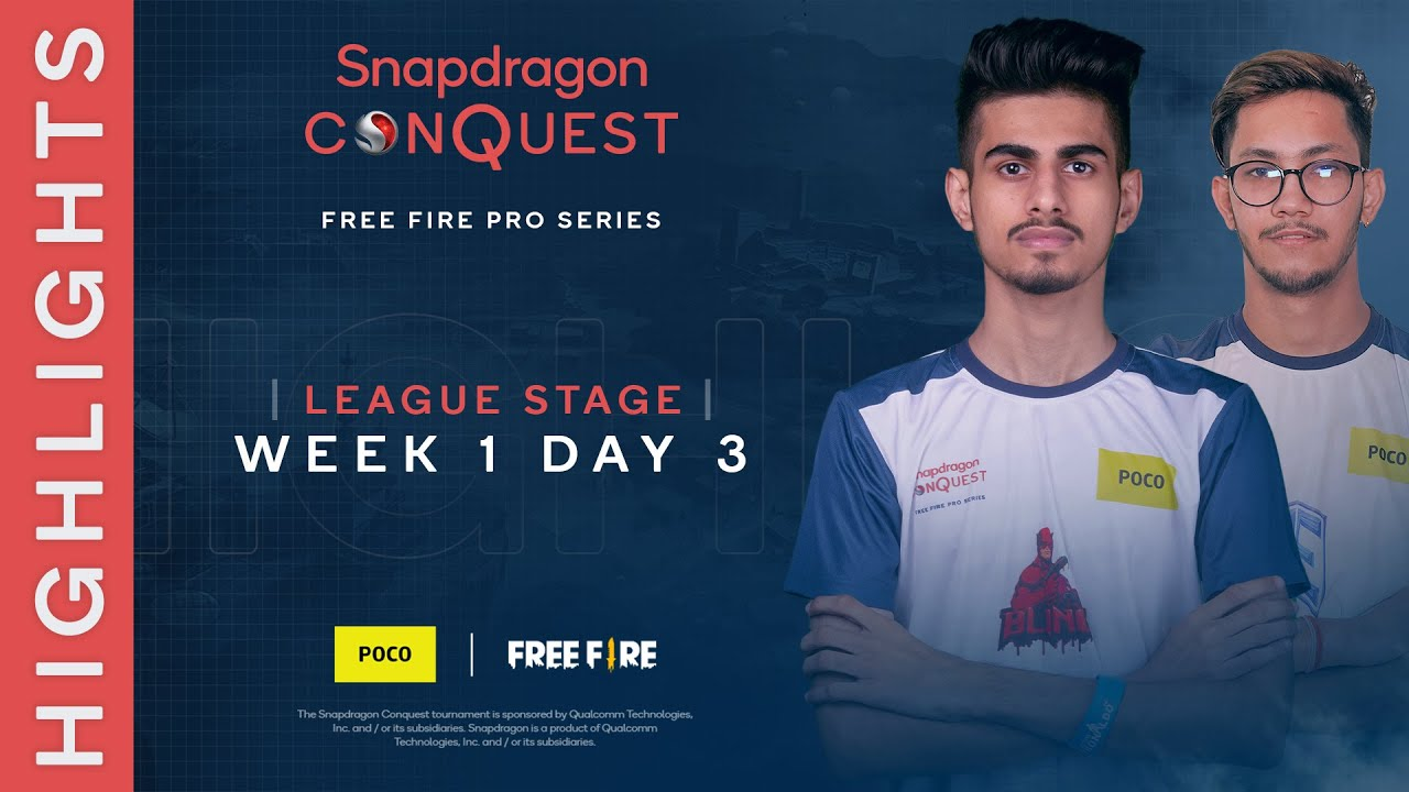 SNAPDRAGON CONQUEST: FREE FIRE PRO SERIES | TOP 10 MOMENTS | WEEK 1 DAY 3