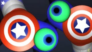 Slither.io Super Hero Captain America Skin Mod! Slitherio Gameplay (Slitherio Funny Moments)