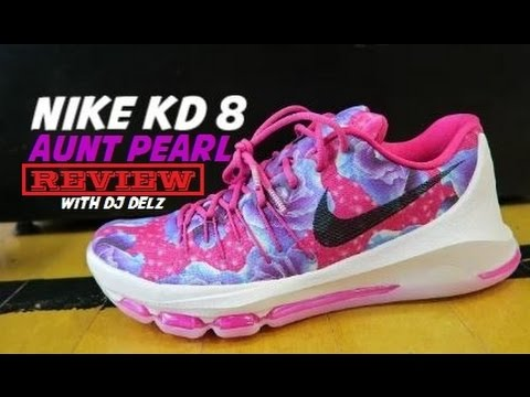 61c512d100cfb Nike KD 8 Aunt Pearl Sneaker Detailed Review - YouTube