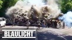 Dynamo Dresden-Fans: Randale in Karlsruhe auf dem Weg zum Stadion