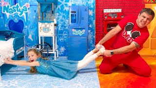 Download lagu Nastya and Hot vs Cold Challenge with Dad