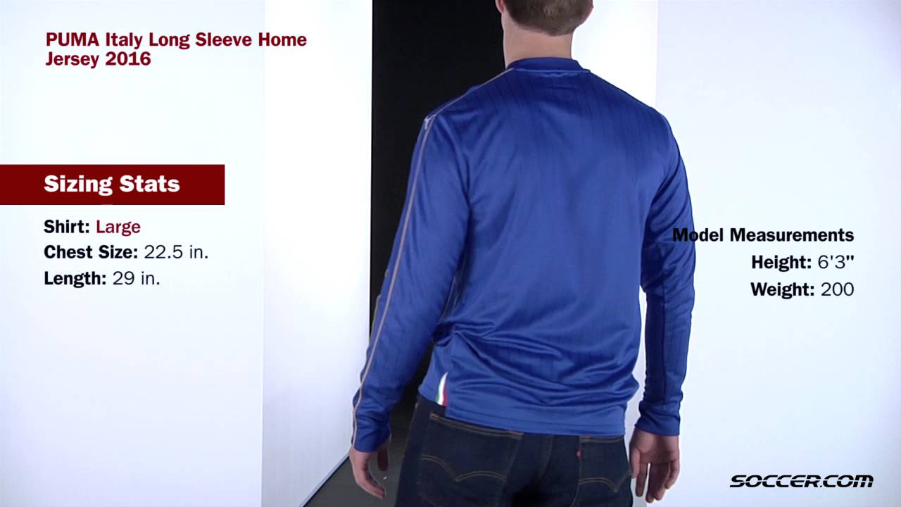 4add1430be PUMA Italy Long Sleeve Home Jersey 2016 - YouTube