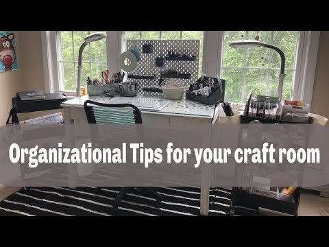Organizational Tips and Hacks for your Craft Room or Office:  marie kondo konmari