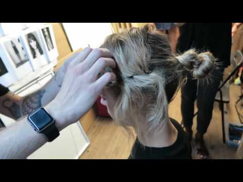 NYFW How To! Katie Gallagher's Chic Threading Look by Bobby Tochterman for Amika