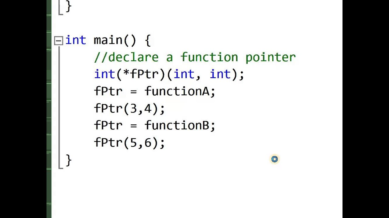 c assign tip for function