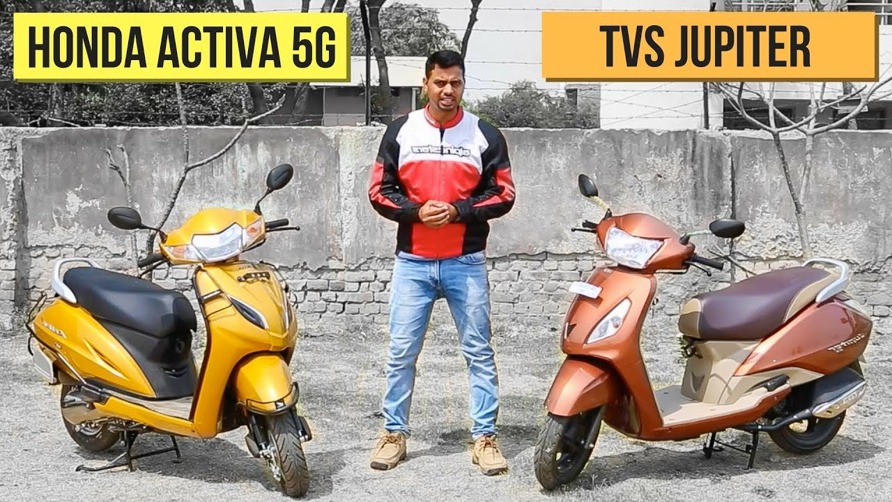 2018 Honda Activa 5g Vs Tvs Jupiter Comparison Review Youtube