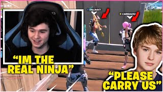 BUGHA TROLLS The NICEST 10 YEAR Old In SQUAD FILLS! (Fortnite Funny Moments)
