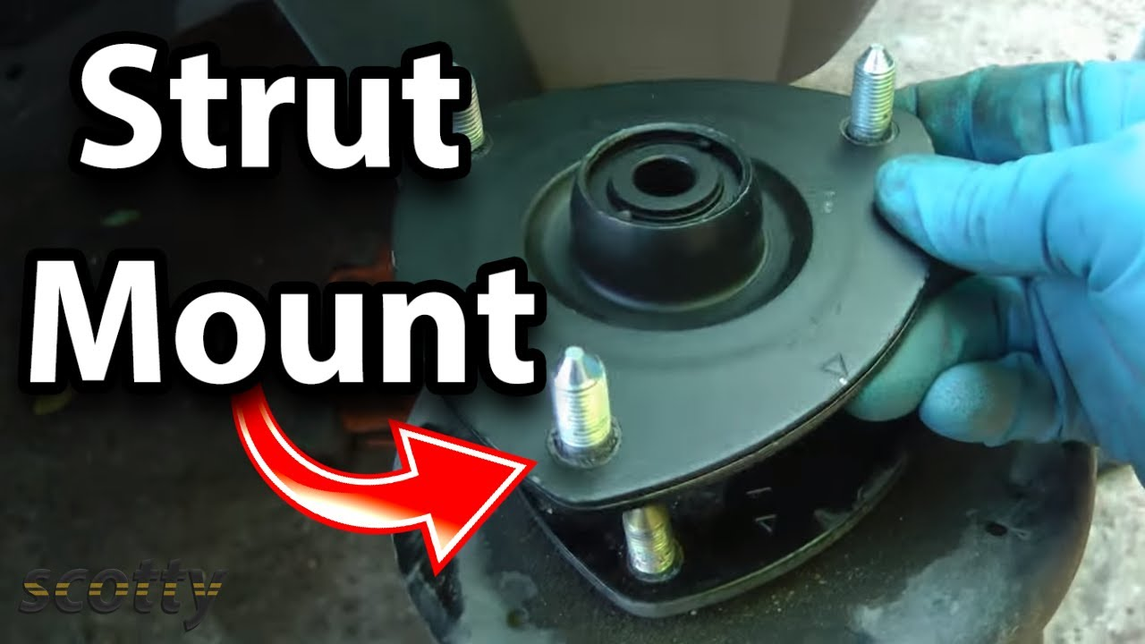 How to Inspect and Replace Strut Mounts on Your Car  YouTube