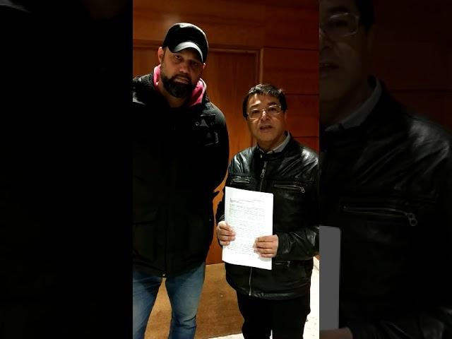 Madrid. Il SUTE (Cile) e il FLNA portano una dichiarazione della RSISL all'ambasciata cilena