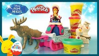 Reine des neiges - Pâte à modeler Play-doh - Le traîneau d'Anna - Titounis