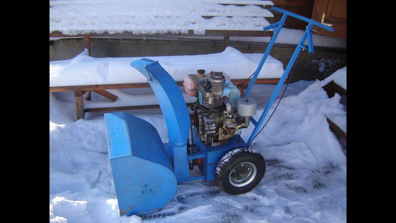 Как сделать из триммера снегоуборщик 450