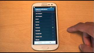 Samsung Galaxy S3 Default Notification Ringtones Out of the Box