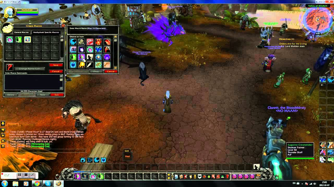 How to make a Mouseover macro for Wow with proper syntax