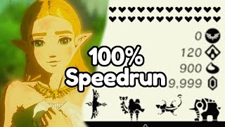 I was the 5th person to finish a Zelda Breath of the Wild 100% Speedrun [4/4]