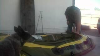 sevylor fish hunter hf 280 hf 360 5 minute deflation process inflatable fishing boat