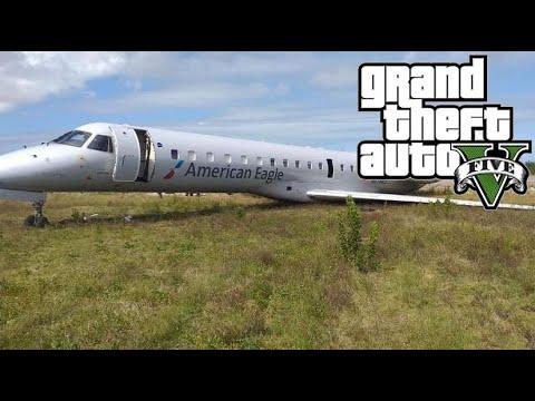 อุบัติเหตุเครื่องบินตกที่น่ากลัวที่สุดในโลก V.2 | [MOD GTA V]