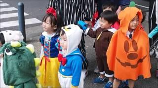 10月31日ハロウィン、みんな可愛い衣装をまとって、横浜公園まで散歩に...