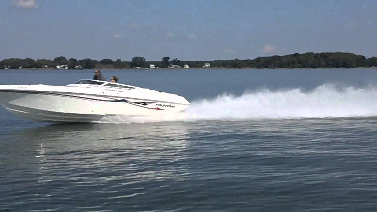 27 foot 2004 Fountain Fever 525 Merc Racing - YouTube