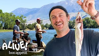 Brad Goes Fly Fishing In Montana Part 1 | It's Alive | Bon Appétit