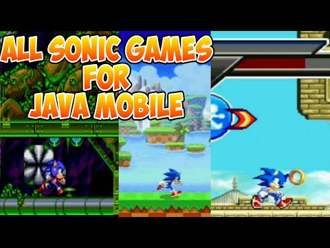 ALL SONIC GAMES FOR JAVA MOBILE