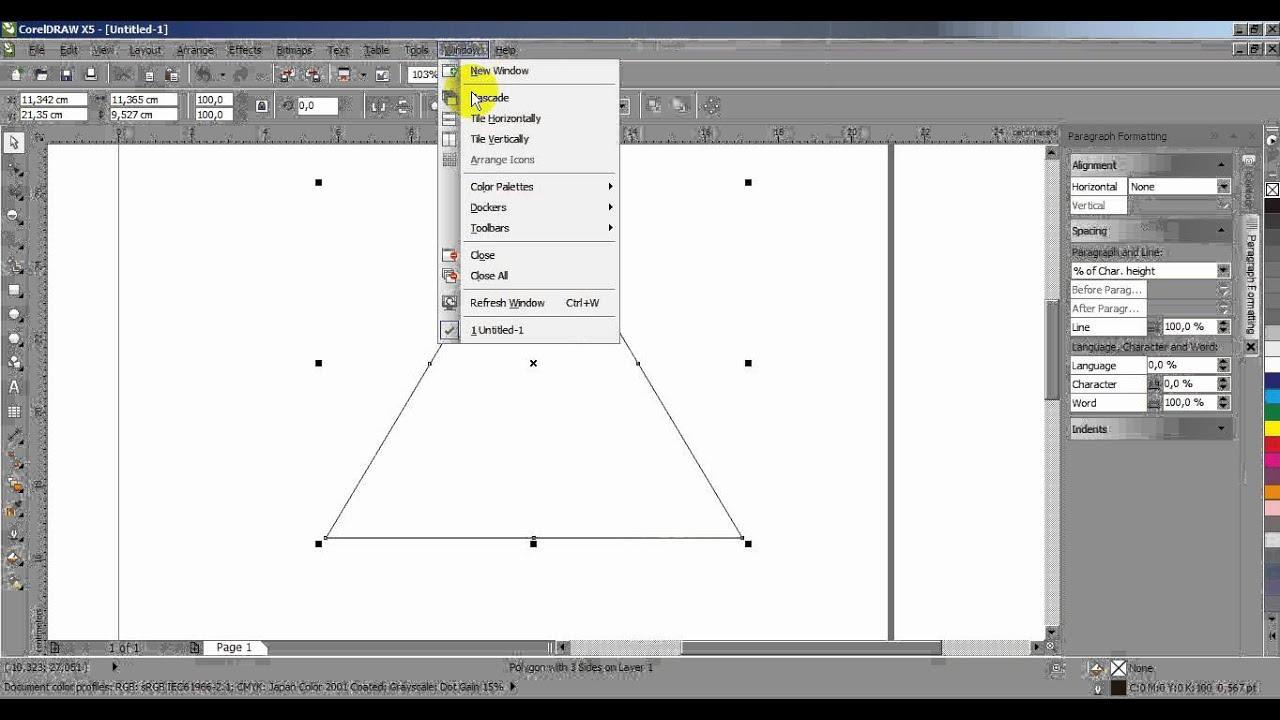 Cara Membuat Denah Pada Corel Draw X4 - Menyisipkan Tabel