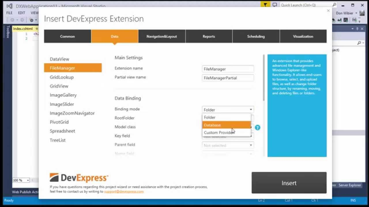 DevExpress ASP NET File Manager with Amazon Storage