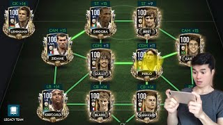 [FIFA MOBILE] REVIEW ĐỘI HÌNH FULL ICONS FULL OVR 100 TRONG FIFA MOBILE