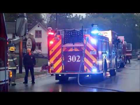 Apartment building fire, South St., Waterloo, Iowa Oct. 6, 2017