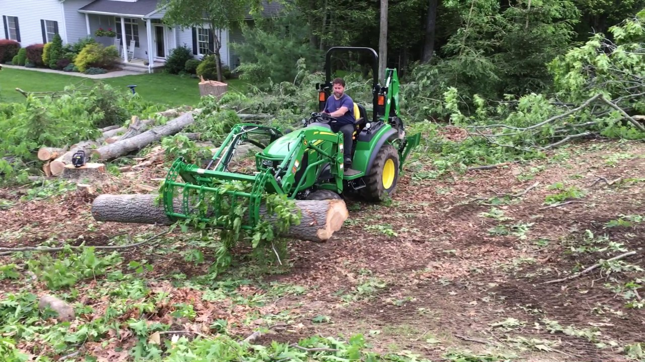 John Deere 2038r Logging With 55 Quot Wicked Root Grapple