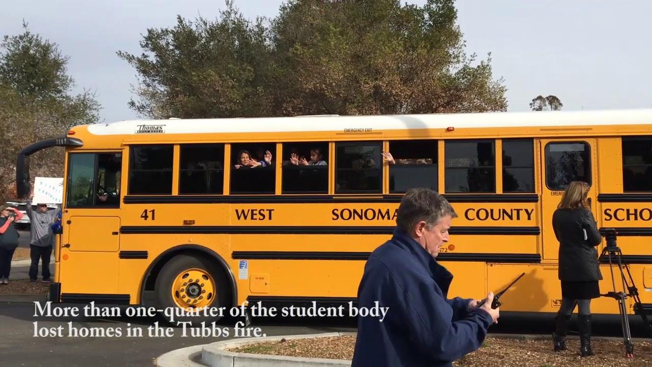 John B. Riebli students visit shuttered campus