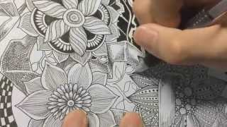 How to draw botanical doodle / zentangle #9