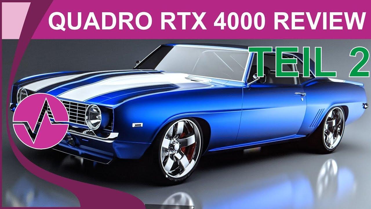 Nvidia Quadro RTX 4000 Review - Benchmarks und Fazit Teil 2