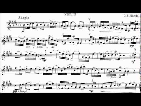 HKSMF 68th Violin 2016 Class 213 Grade 4 Handel Sonata No.6 in E Movt 1 Adagio Sheet Music 校際音樂節