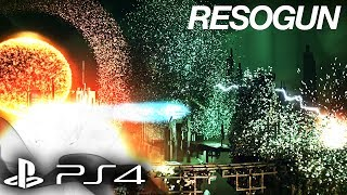 PS4 RESOGUN Gameplay - Save the Humans! Part 1 - NEXT GEN VOXEL GRAPHICS 1080p [Playstation 4]